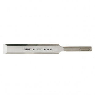 Machine chisel with shank mounting