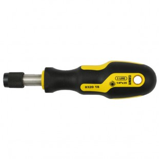 Magnetic screwdriver with quick release chuck for bits