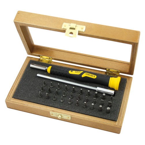 set of micro bits 4mm with screwdriver in wooden box narex byst ice s r o. Black Bedroom Furniture Sets. Home Design Ideas