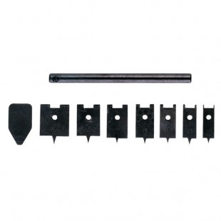 Set of spade drill bits for woodworking