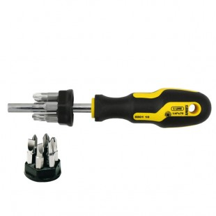 Magnetic screwdriver with bits